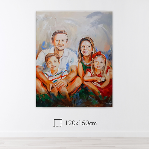 De 2 a 5 pessoas - 120x150cm