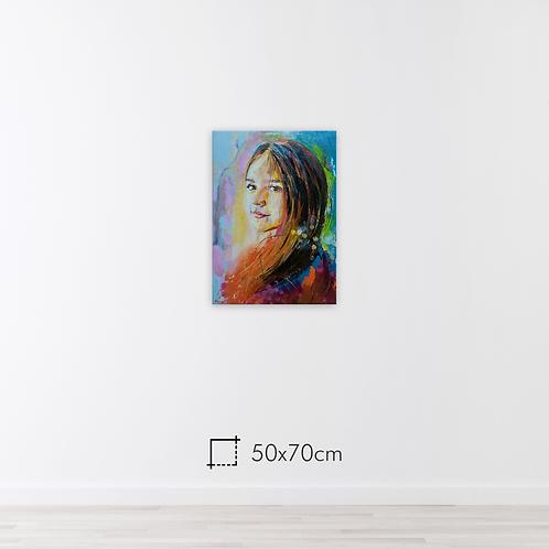 1 pessoa - 50x70cm