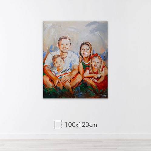 De 2 a 5 pessoas - 100x120cm