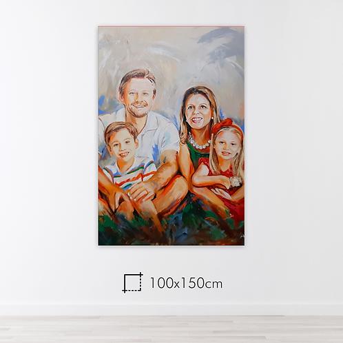De 2 a 5 pessoas - 100x150cm