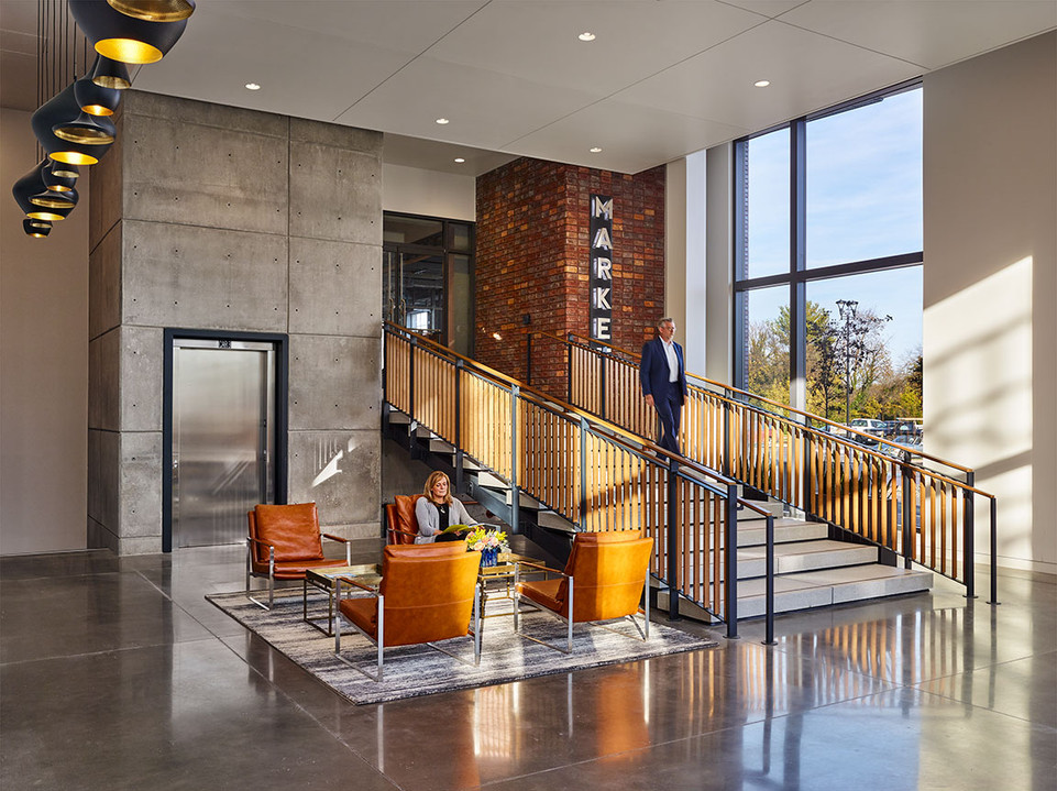 Office Addition Lobby