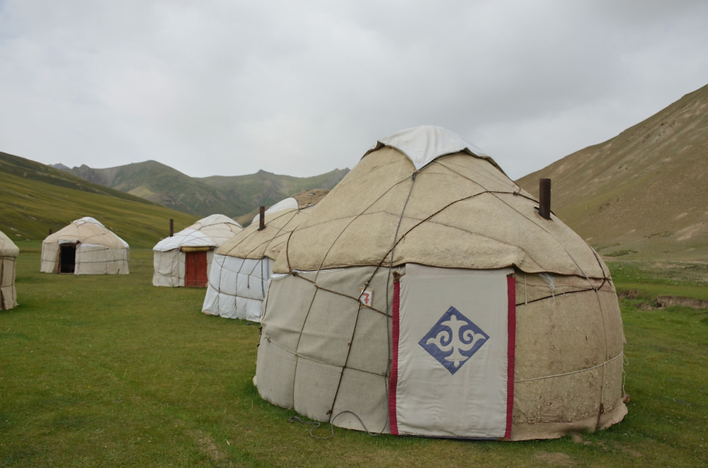 yurt camp, tash rabat