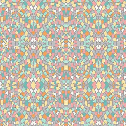 Dance at dawn - mosaics turq