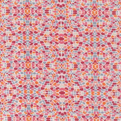 Dance at dawn - mosaics peach