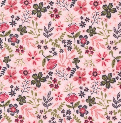 Gingham Farmhouse -Flowers Pink
