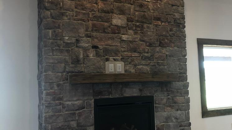 Reception Hall Fireplace