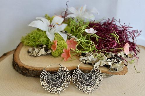 Boho Tribal Earrings - Silver