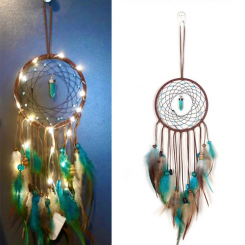 Light up Turquoise Dream Catcher