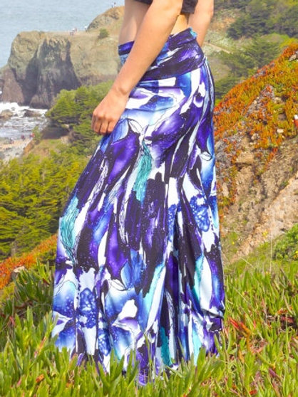 Shades of Blue Belle Flare Pants