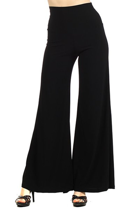 Palazzo Pants Solids - Black and Navy