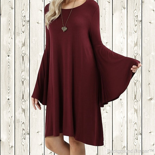 Burgundy Belle Dress