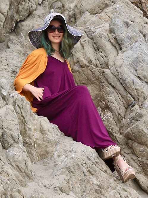 Eco Friendly Fiana Dress Plum