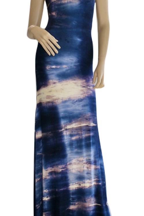 Athena Backless Dress - Blue