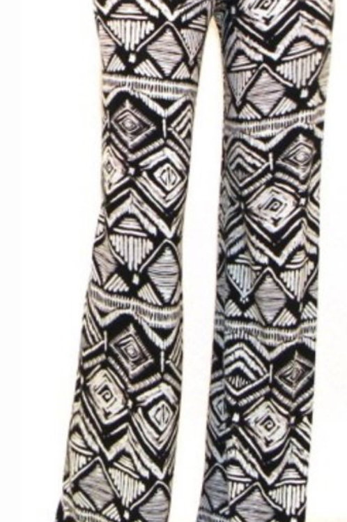 Black Diamonds Flare Pants