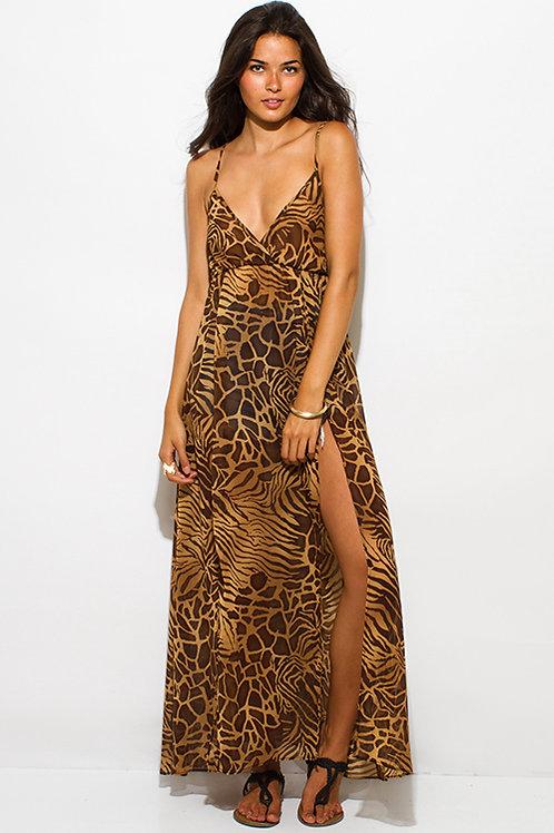 Safari Boho Maxi Dress