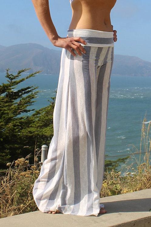 Lace Stripe Belle Flare Pants