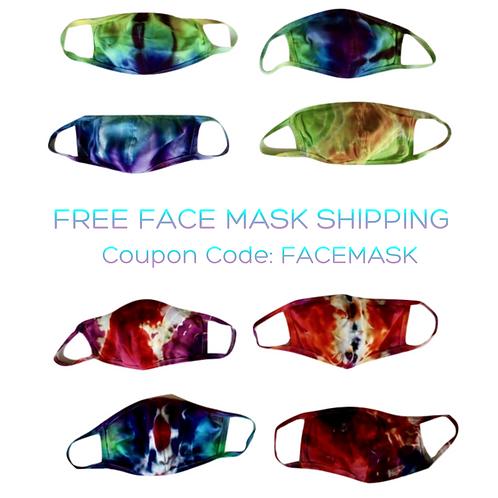 Tie Dye Face Masks - Adult