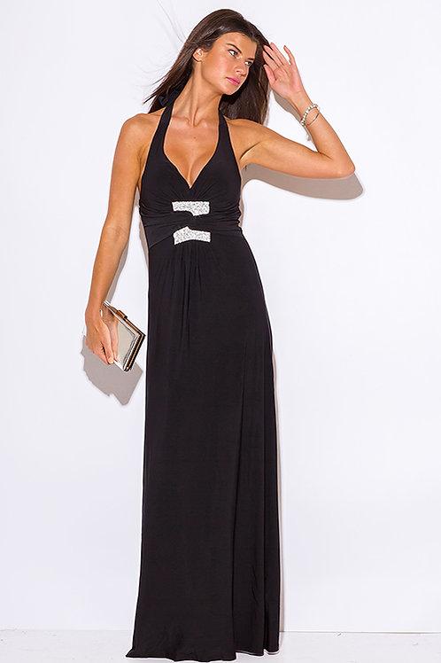 Black Empire Waist Maxi Dress