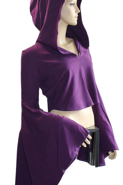 Cali Bell Crop Top - Plum