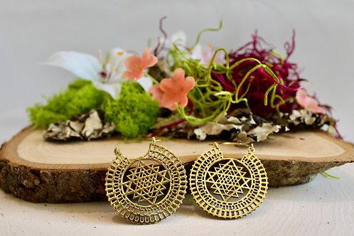 Sri Yantra Earrings (sml)