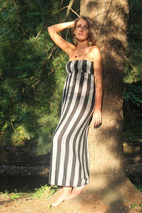 2 in 1 Stripe Knit Dress