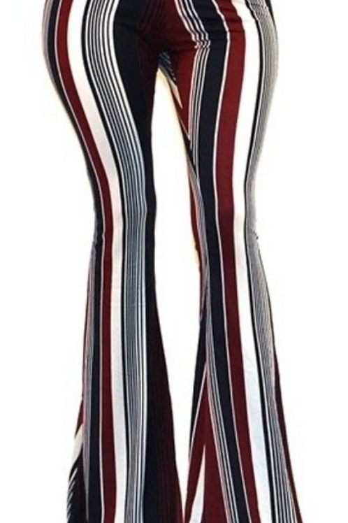 Burgundy Navy Stripe Bells