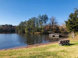 Far side of lake