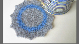 Crochet Tutorial: Felted Mug Rug
