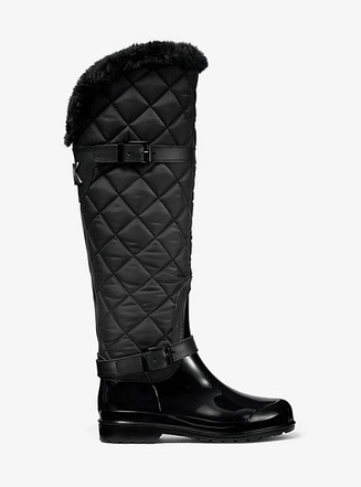 Item: Fulton Quilted Nylon and PVC Rain Boot