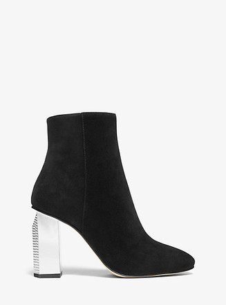 Item: Petra Embellished Suede Ankle Boot