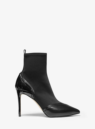 Item: Khloe Scuba and Leather Ankle Boot
