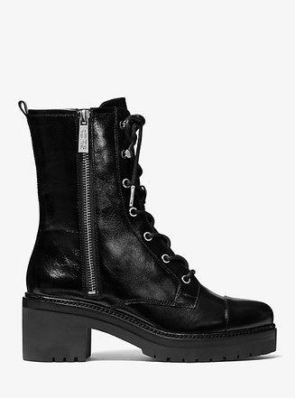 Item: Anaka Crinkled Leather Combat Boot