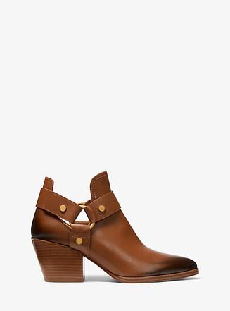 Item: Pamela Burnished Leather Ankle Boot