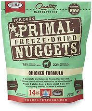 Primal freeze raw dog food