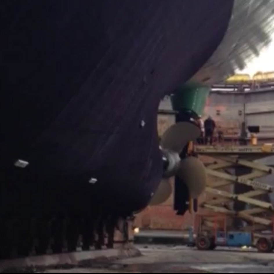 120 meter Cargo Ship Coaster with Finsulate antifouling wrap.