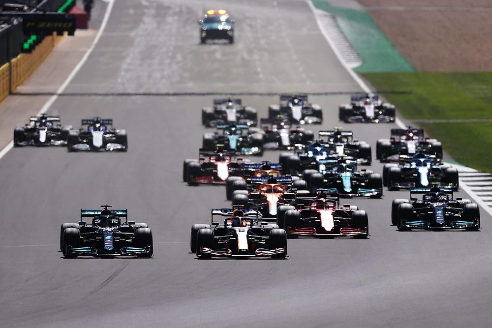 British GP 2021 - Race Start - Red Bull Racing