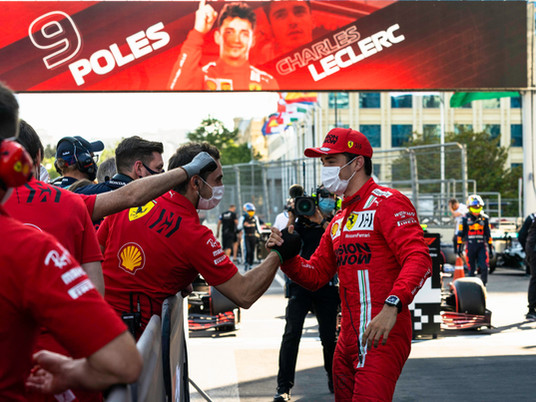 F1 Race in Azerbaijan 2021