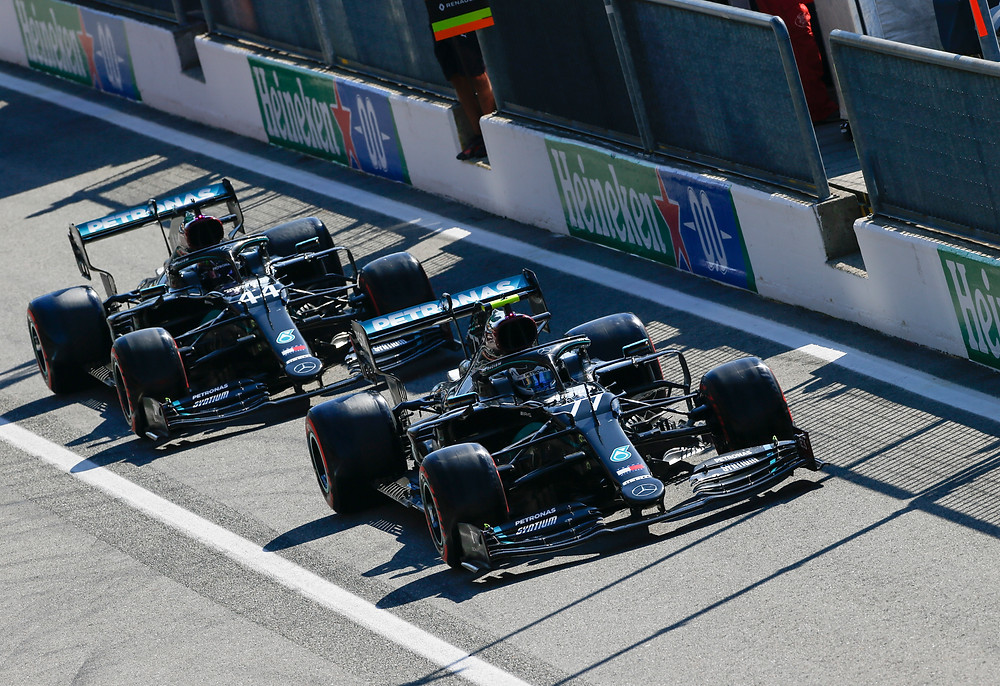 Mercedes cars in Italy 2020 Qualifying