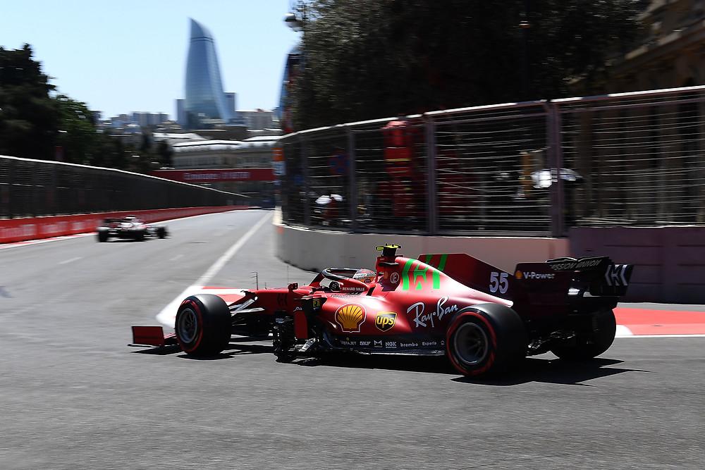Carloz Sainz - Uzerbaijan 2021 Qualifying - Ferrari