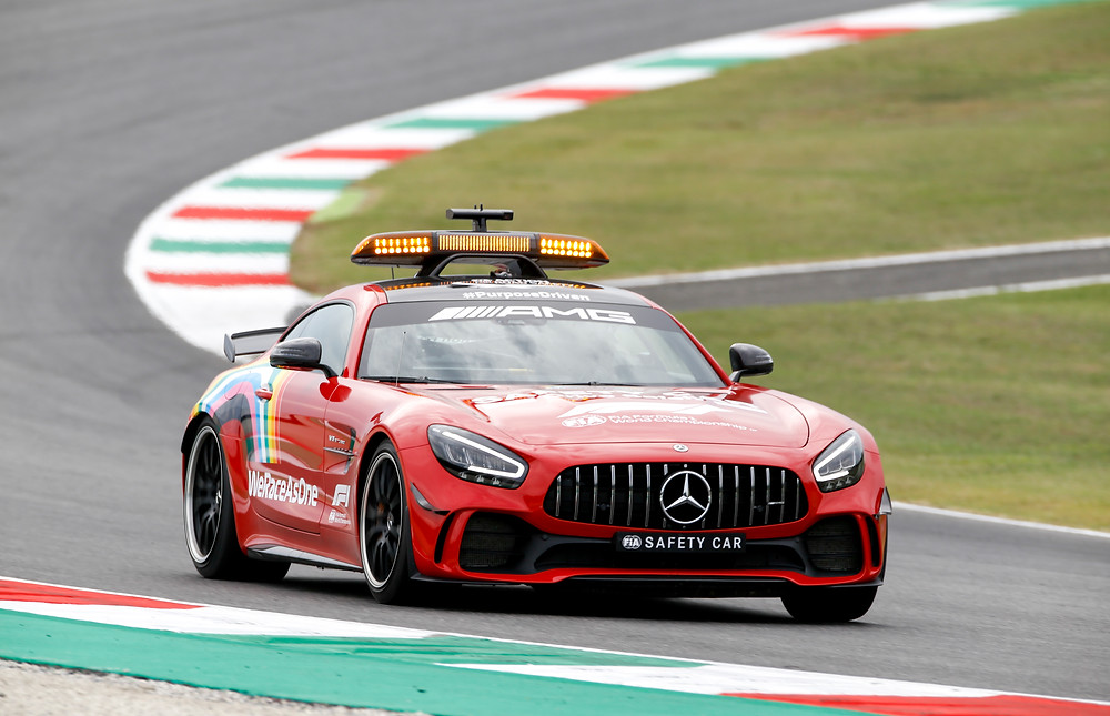 Safety car special livery for Tuscan GP 2020