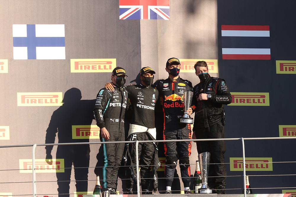 Tuscan GP 2020 Winning Podium (Hamilton, Botts and Albon)