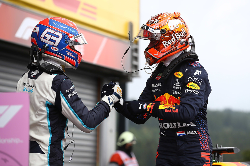 Red Bull Racing - Russell and Verstappen - Belgium 2021 - Qualifying