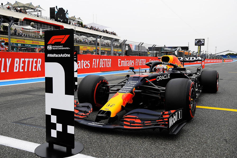 Red Bull Racing - Max Versatappen Pole in France 2021
