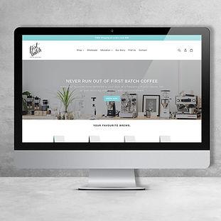 Wild Daisy Design First Batch Coffee Website