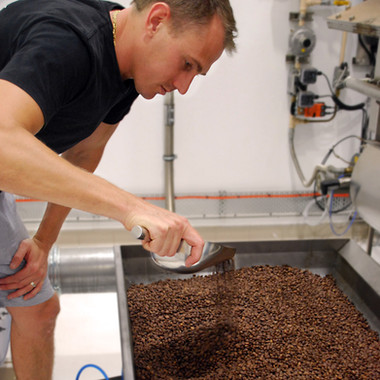 Today we're roasting!  Come in this morning to see our custom fluid bed air roaster in action. BTW its the first and only on the Sunshine Coast!