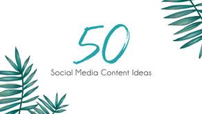 50 Social Media Content Ideas