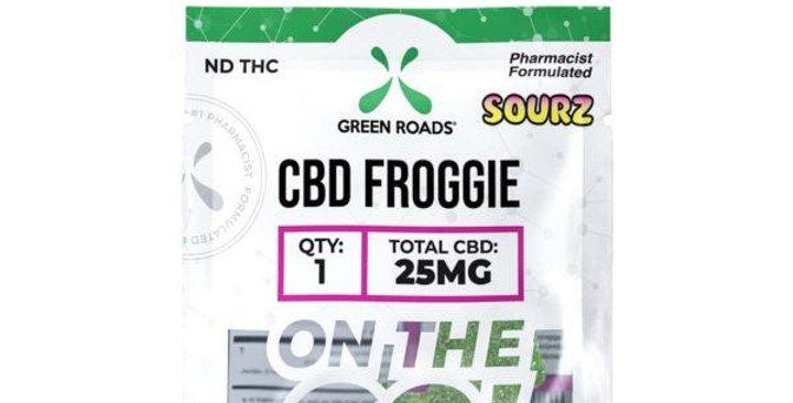 25mg Froggie Sourz On-The-Go Gummies - Green Roads