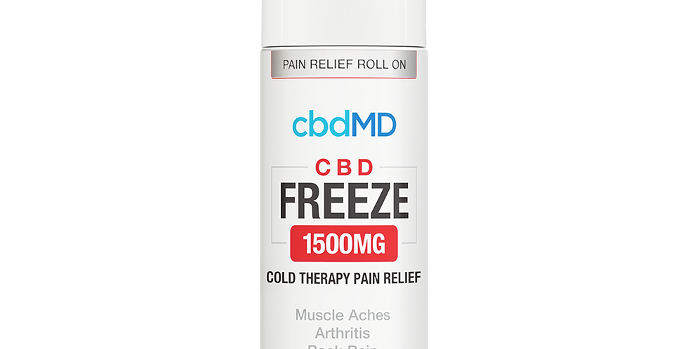 1500mg Freeze Pain Relief Topical 4oz by cbdMD