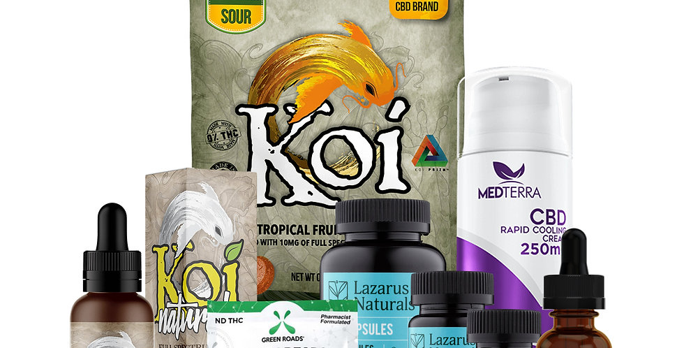Bundle Box #2-Koi, Medterra, Green Roads, Lazarus Naturals, cbdMD