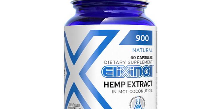 Hemp Oil Capsules 900mg by Elixinol